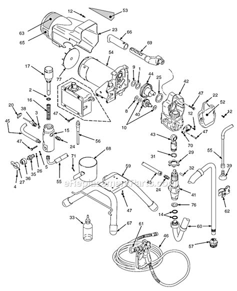 graco 395 parts diagram graco 395 parts list and diagram 233980