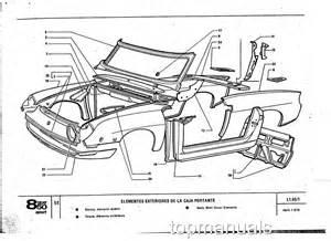 Fiat 850 Coupe Parts Seat Fiat 850 Sport Coupe Spider Parts List Despiece Ebay