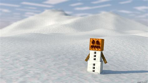 minecraft snow golem wallpaper hd  wallpaper p hd