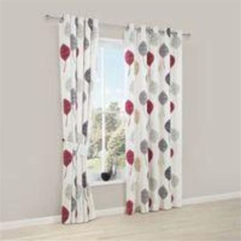 red and white floral curtains buy dario beige grey red white floral print printed