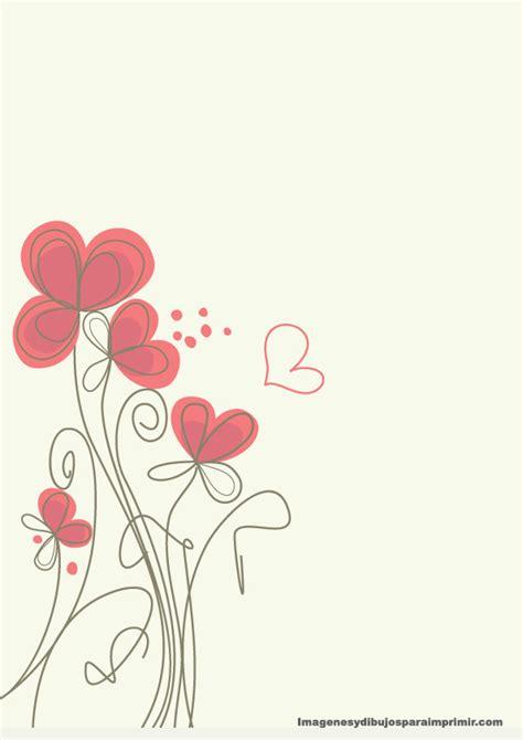 imagenes de hojas blancas decoradas imprimir gratis hojas con fondos flores de papel