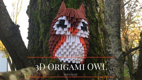 Modular Origami Owl - 3d modular origami owl