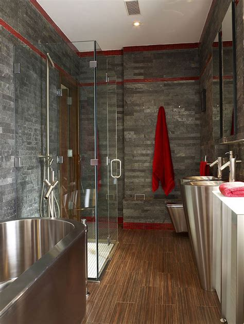 new slate bathroom superb townhouse renovation in gramercy park new york
