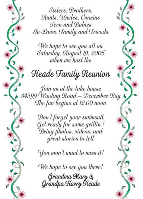 family reunion invitation templates family reunion invitation style fr 09