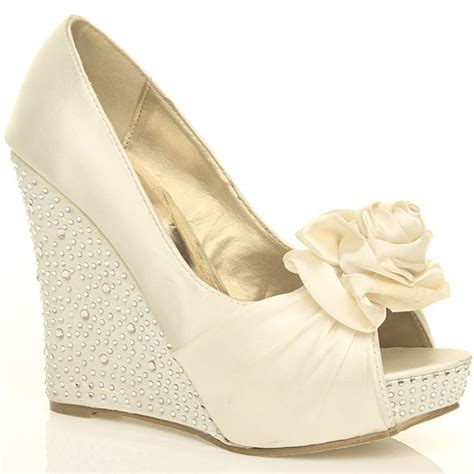 Ivory Wedge Wedding Shoes by Object Moved
