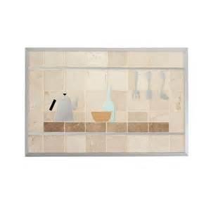 shop broan 20 in x 30 in cream stone kitchen backsplash at