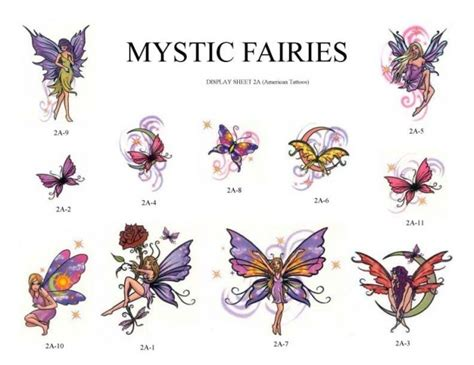 butterflies and fairy tattoos designs