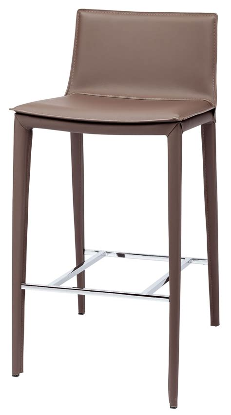 Nuevo Palma Counter Stool by Palma Mink Leather Bar Stool From Nuevo Coleman Furniture
