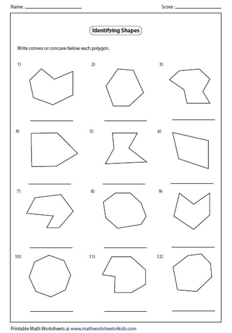 free printable identifying shapes worksheets identifying polygons worksheet worksheets tutsstar
