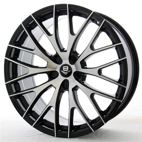 matt rims v8 v 22 18x9 matt blackgloss black machined carlink tyres