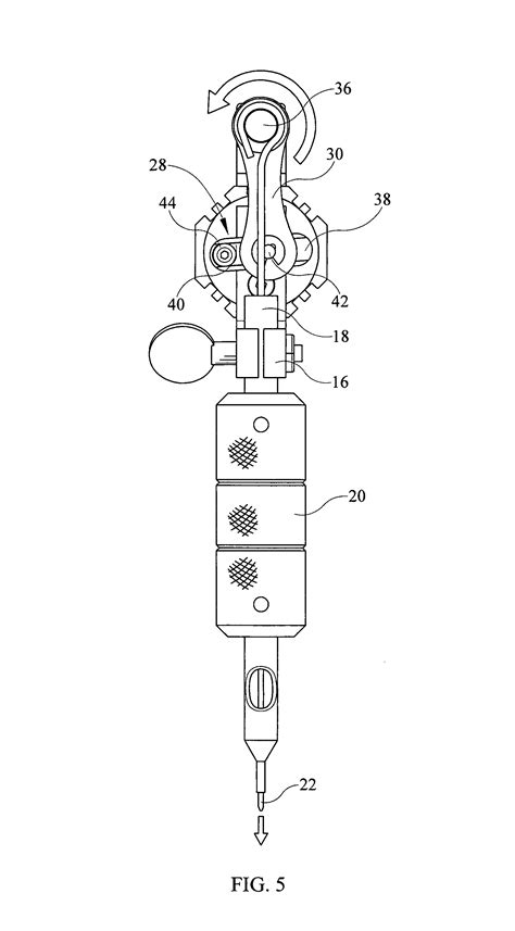 tattoo machine needle placement patent us8522647 eccentric gear for tattoo machine for