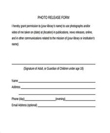 photographic release form template release form templates