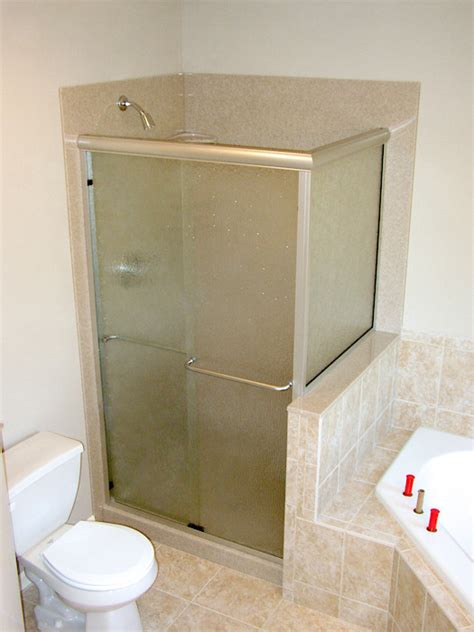 replace bathtub with walk in shower walk in shower and bathtub replacement gallery