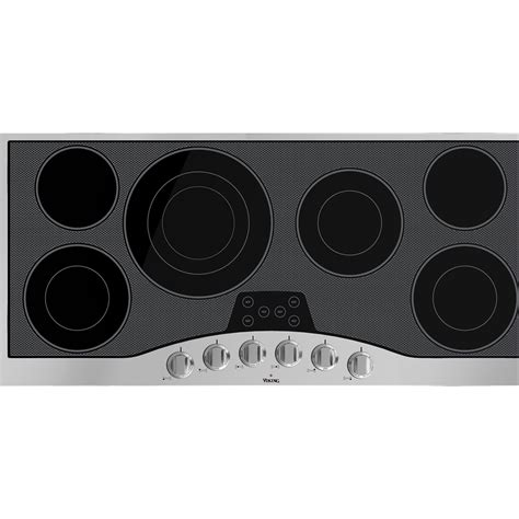 stainless steel cooktop electric viking 44 9 quot electric cooktop black stainless steel at