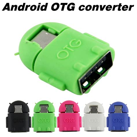 android otg android robot shape micro mini usb otg adapter cable for tablet pc mp3 mp4 smart phone free