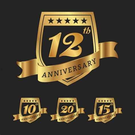 Wedding Anniversary Wishes Vector Free by Anniversary Badges Collection Vector Free