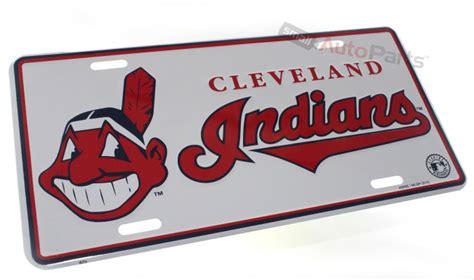 mlb cleveland indians mat small 20 x 30 in cleveland indians mlb license plate aluminum sted metal