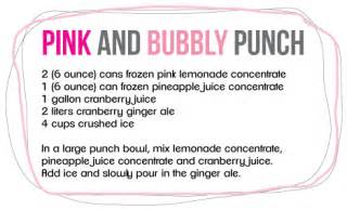 easy pink punch recipe for baby shower 2017 2018 best