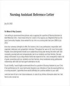 Recommendation Letter Format For Nurses Nursing Reference Letter Exles Letter Of Recommendation