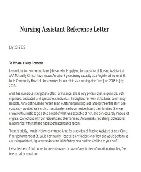 reference letter for home health aide 28 images health