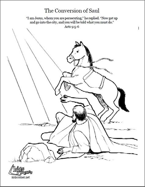 Coloring Page Acts 9 by 16 Best Images About Bible Nt Saul S Conversion On