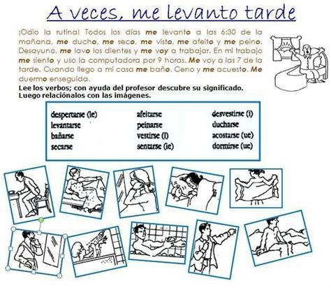 imagenes verbos reflexivos mejores 217 im 225 genes de verbos en pinterest aprender