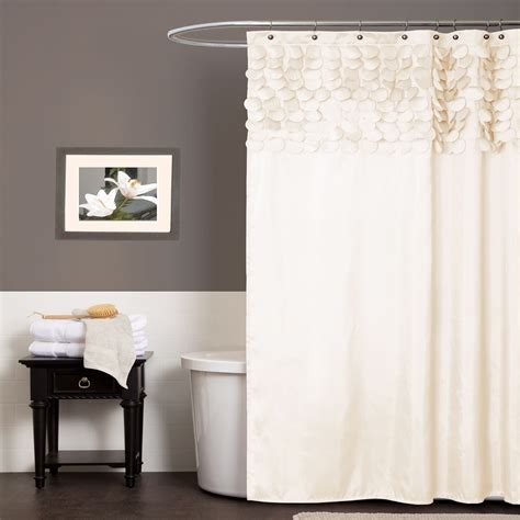 lush decor lillian shower curtain lush decor lillian beige shower curtain home bed