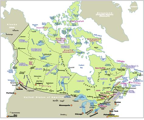 map of us canada and south america map of canada johomaps