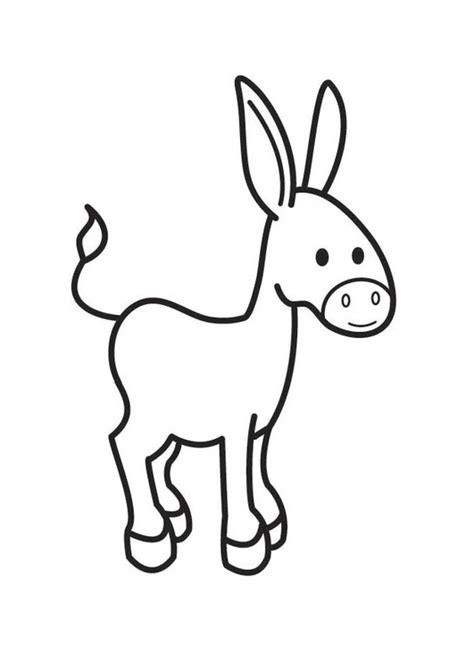 imagenes para colorear burro dibujo para colorear burro img 17538