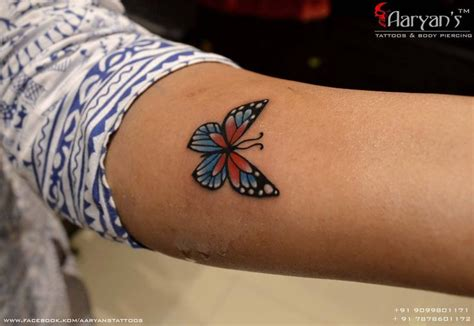 butterfly gun tattoo after the finished work by 1000 ideas about colorful butterfly tattoo on pinterest