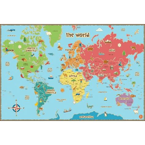 World Map Target by Wallpops 174 Kids World Map Multicolor Target