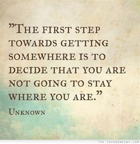 deciding where to stay at the step towards getting somewhere is to decide that
