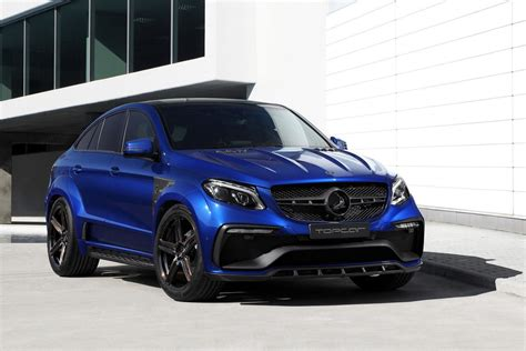 mercedes gle coupe   blue gem colored body kit