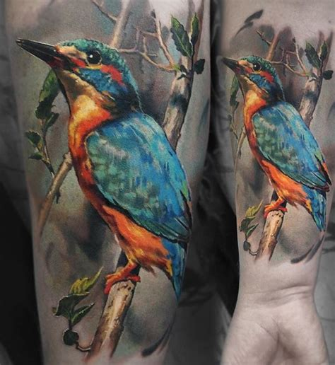 kingfisher tattoo designs realistic bird inkstylemag