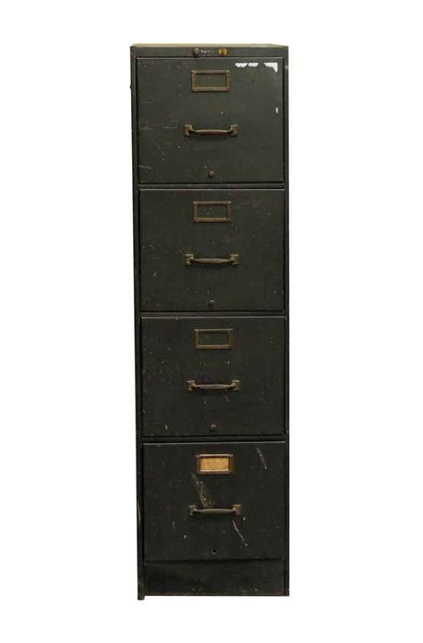 Green Filing Cabinet Reclaimed Four Drawer Metal Green Filing Cabinet Olde Things