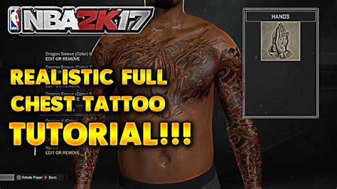 how to get tattoos off nba 2k17 tips tricks chest tutorial easiest