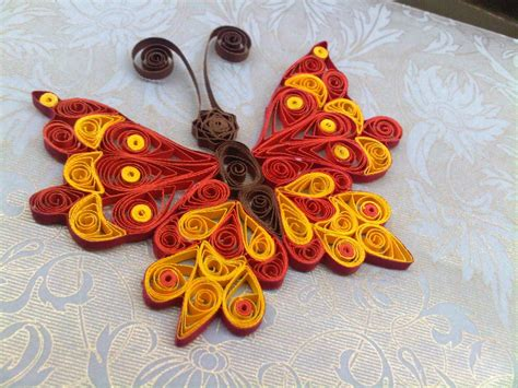quilling design a quilled butterfly embellishment steps by step