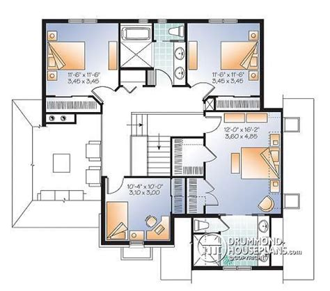4 Bedroom House Plans Master On House Plan W3413 V3 Detail From Drummondhouseplans