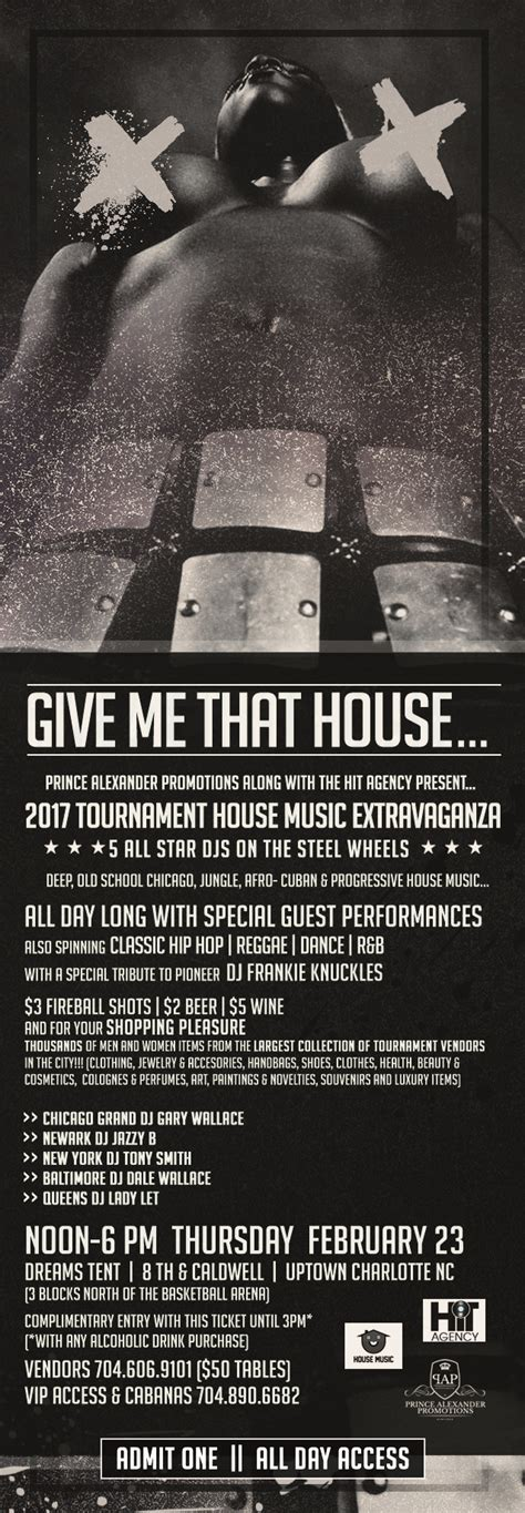 give me that house music house music day party thursday clt party