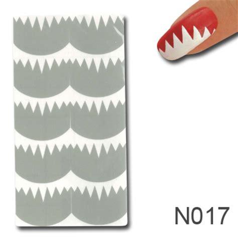 Nagel Zubehör by Nagellack Schablone Design 17 Nagellack Schablonen