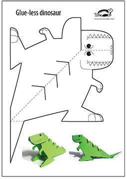printable paper art glue lee printable dinosaur งานประด ษฐ pinterest