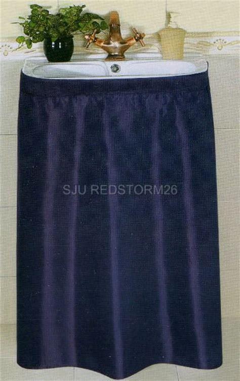 Sink Skirt New Water Repellent Fabric Sink Skirt Navy Blue Ebay