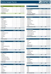 Family Budget Planner Template Family Budget Template Incheonfair