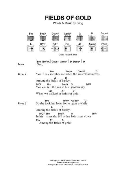 Chords Lovely Field Of Gold Easy Guitar Lesson Tab | Kotaksurat.co