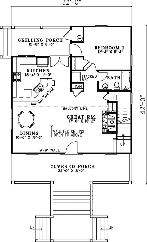 seasonridge vacation cabin home plan 055d 0848 house