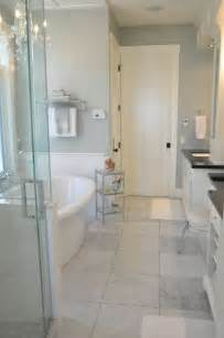 Colors To Make A Bathroom Look Bigger 37 Light Grey Bathroom Floor Tiles Ideas And Pictures