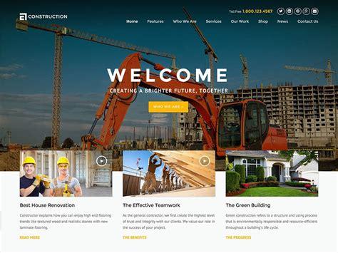 25 Best Construction Company Wordpress Themes 2019 Athemes Best Construction Website Templates