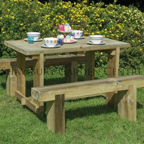 Sleeper Garden Furniture by Forest Garden 1 2m Refectory Table Sleeper Bench