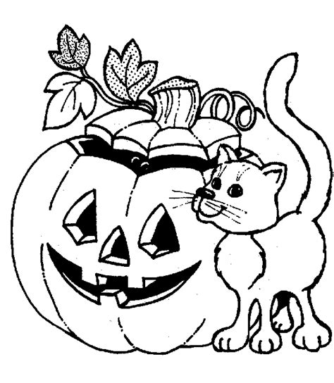 coloring activity pages jack o lantern cat coloring page