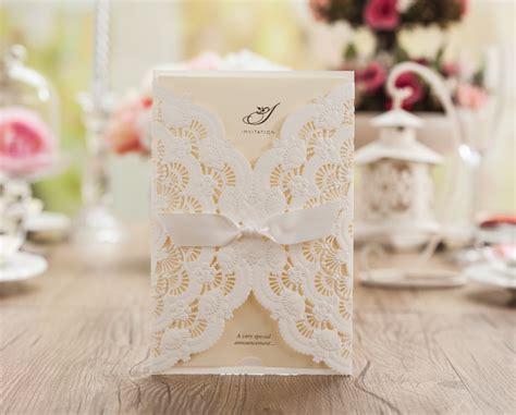 wedding invitation sles usa laser cut wedding invitations blank white birthday invitation card with bowknot wedding favors